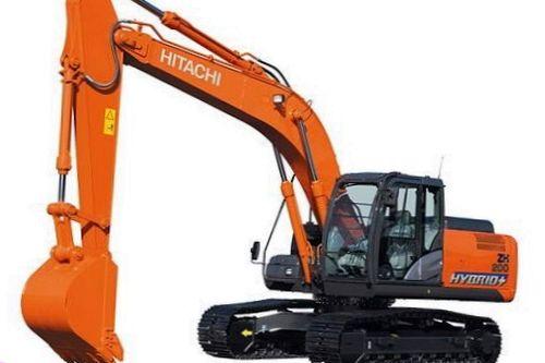 Гибридный экскаватор Hitachi ZH200
