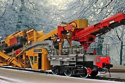 Техника с заводов строительно-отделочных машин и железнодорожные машины